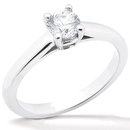 1.0 Ct. Diamond SOLITAIRE white gold ring F VS1 jewelry