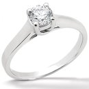DIAMOND SOLITAIRE RING prong style 1.0 CT. white gold