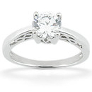 F VS1 diamond solitaire ring 1 Carat diamond gold ring