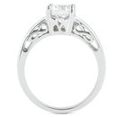 F VS1 diamond solitaire ring 1 Carat diamond gold ring