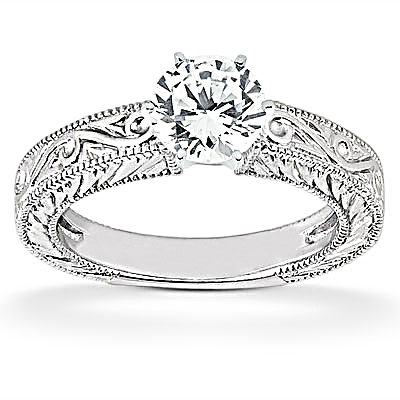 1.01 Ct. diamonds solitaire wedding ring band set F VS1