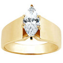 1.01 carat diamond solitaire engagement ring gold new
