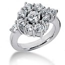 2.70 ct. Diamond wedding white gold ring F VVS1 jewelry