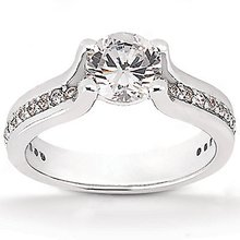 1.32 Cts. DIAMOND F VVS1 ring white gold wedding ring