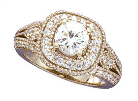 1.70 CARATS real genuine 61 diamonds ENGAGEMENT RING