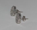 3 carat diamonds earrings white gold stud ear ring pair