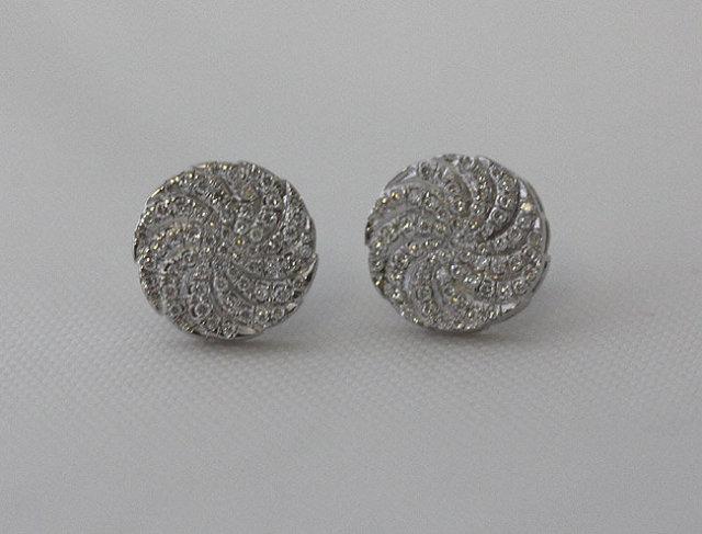 3 carat diamonds earrings white gold stud ear ring pair