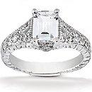 1.36 Ct. Diamonds engagement ring F VVS1 diamond gold