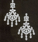 3.5 carats DIAMOND CHANDELIER EARRINGS real natural