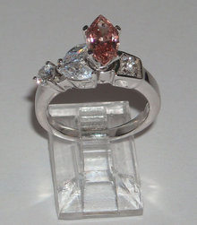 1.85 carats MARQUIS PINK DIAMONDS ring solitaire fancy
