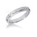 1.36 Ct. Diamond ring engagement band set white gold