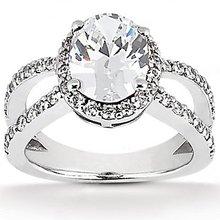Oval cut diamond engagement ring diamonds 1.66 Carat