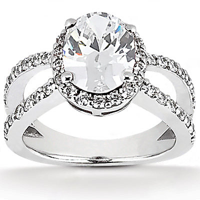 Oval cut diamond engagement ring diamonds 1.66 Carat