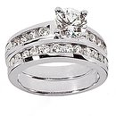 1.41 Ct. Diamonds engagement set F VVS1 diamond ring