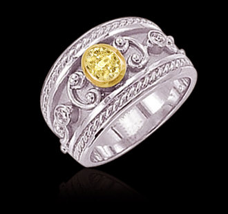 1.25 carat yellow canary oval diamonds engagement ring