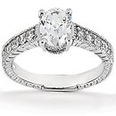Oval cut DIAMONDS 1.26 ct. ring gold wedding jewelry