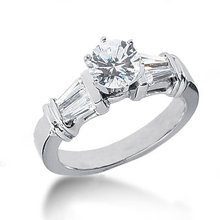 2.01 carat baguette diamonds anniversary ring gold