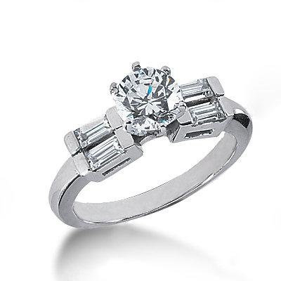 Beautiful diamonds 5-stone ring 1.51 carats white gold