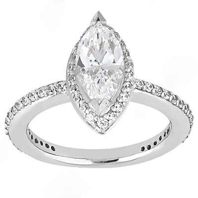 1.65 Ct. Diamonds marquise cut ring F VVS1 diamond gold