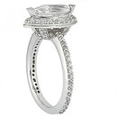 1.65 Ct. Diamonds marquise cut ring F VVS1 diamond gold