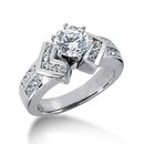 1.51 carat diamonds engagement ring F VS1 diamond ring