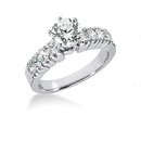 Diamonds engagement ring real genuine 1.65 cts. diamond