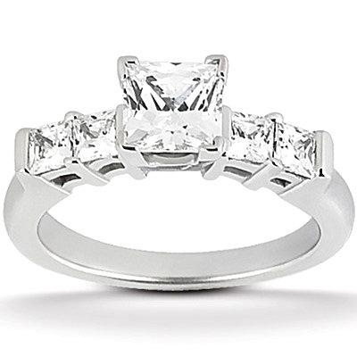 1.51 carat diamonds princess cut engagement ring band