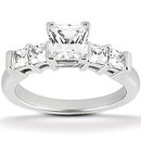 1.51 carat diamonds princess cut engagement ring band