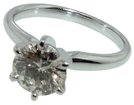 1 carat F VVS1 diamond solitaire engagement ring