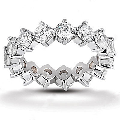 3.75 ct. diamonds eternity wedding band women's jewelry