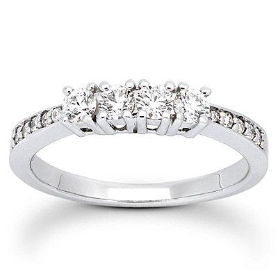 1.51 ct. diamonds 3 stone ring diamonds engagement band