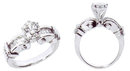 1.30 carat DIAMOND ENGAGEMENT RING platinum G VS1/VVS1