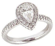 2.01 carats PLATINUM DIAMOND RING engagement pear shape