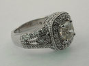 2.51 carats ROUND DIAMOND RING antique look gold pave