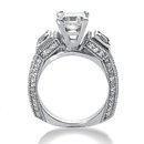 White gold & diamonds 2.51 ct. 3 stone engagement ring