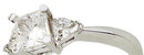 1.81 carat diamond princess cut engagement ring NEW
