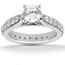 1.70 ct. diamonds engagement ring band set gold new