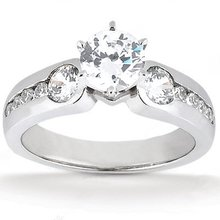 1.75 Ct. Diamonds three stone ring engagement gold ring