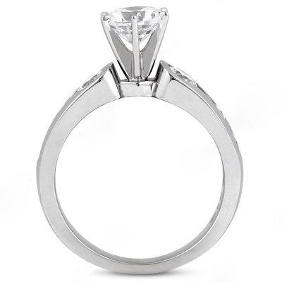 1.75 Ct. Diamonds three stone ring engagement gold ring
