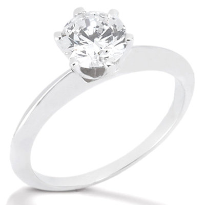 1.0 Ct. Diamond SOLITAIRE platinum ring F VS1 jewelry