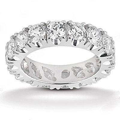4 Carat. Diamonds F VS1 eternity wedding band gold