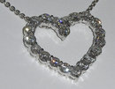 5.01 carats HEART style PENDANT diamonds necklace love