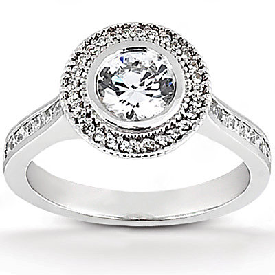 F VS1 Diamond ring 2.22 ct. solitaire wedding gold ring