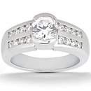 White gold diamonds 1.51 Cts. wedding band ring diamond