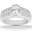 White gold diamonds 1.51 Cts. wedding band ring diamond