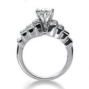 2 Ct. Diamonds engagement ring prong setting gold ring