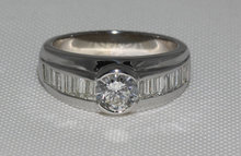 2 carat diamonds engagement ring men's band white gold