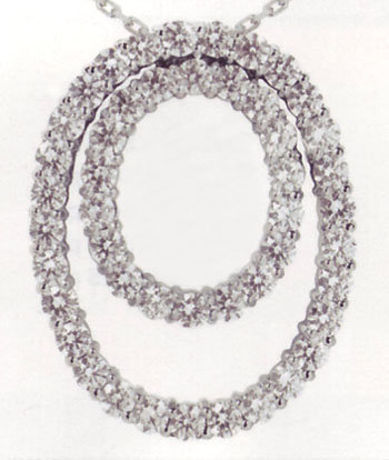 5.03 carats double OVAL diamond pendant necklace gorgeo
