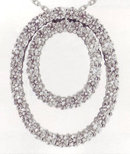 5.03 carats double OVAL diamond pendant necklace gorgeo