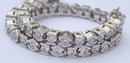 6.5 carats diamond tennis bracelet round half bezel